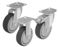 Light Duty Casters With Thermoplastic Rubber Tread