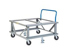 Little Giant Ergonomic Adjustable Height Mobile Pallet Stand with Handle