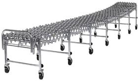 NestaFlex 226 Series Expandable Portable Conveyors with 14 Inch Wide Steel Wheels