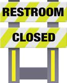 Folding Safety Barricade Restroom Closed