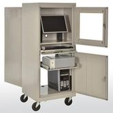 Sandusky Flat Screen Mobile Computer Security Workstation