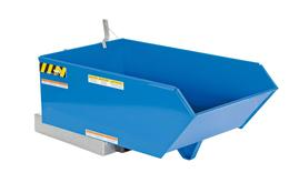 Vestil H-25-LD Blue 90 Degree Self-Dumping Hopper