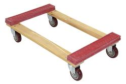 Rubber End Hardwood Dolly Vestil