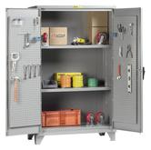Little Giant High Capacity Storage Cabinet with Pegboard Doors Model No. SSL2-A-2448-PDB
