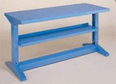 Equipto Iron-I Bench with Lower Shelf 30 Inches Deep