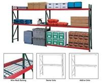 FastRak Bulk Storage Rack Units With Wire Mesh Decking