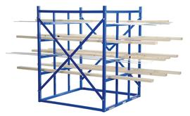 Vestil LBPH-77 Long Bar Pigeon Hole Rack
