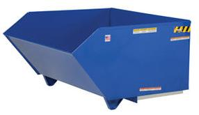 Medium Duty Low Profile 90 Degree Self-Dumping Steel Hoppers