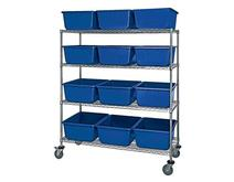 Quantum MWR4-2419-9 Mobile Wire Shelving System