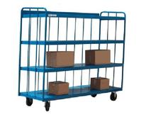 Meco Omaha Four Shelf Stock Carts