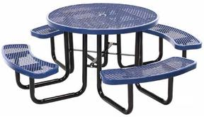 Leisure Craft 46 Inch Round Expanded Metal Table NEW