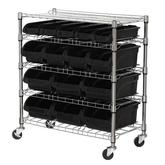 Sandusky Mobile Bin Shelving Unit