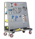 Little Giant Mobile Pegboard with Back Shelf Storage