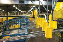 Overhead Conveyor Systems Distribution Centers / Warehouses Tote Return Systems