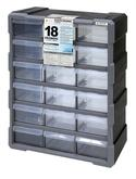 Quantum PDC-18BK Plastic Drawer Cabinets with 18 Drawers