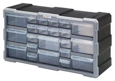 Quantum PDC-22BK Plastic Drawer Cabinets with 22 Drawers