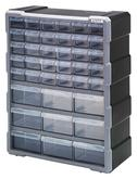 Quantum PDC-39BK Plastic Drawer Cabinets with 39 Drawers