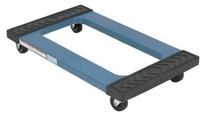 Vestil PDOC-1830 Plastic Dolly with Rubber Ends