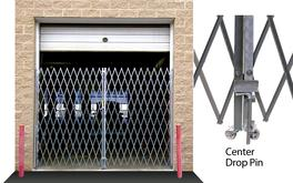 Double Folding Galvanized Gates