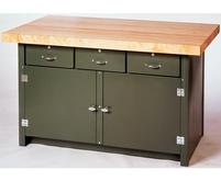 Pollard Three Drawer Cabinet Work Bench