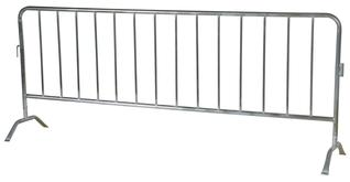 Galvanized Crowd Control Interlocking Barriers Curved