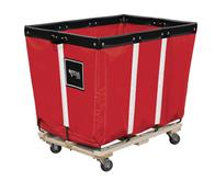 Permanent Liner Vinyl Basket Truck with Wood Base - 10 Bushel