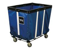 Permanent Liner Vinyl Basket Truck with Wire Base - 10 Bushel