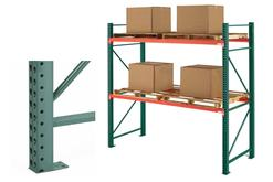 "Steel King SK200 Boltless Pallet Rack 36"" Upright Frames"