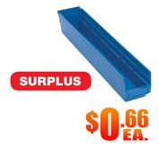 QSB105 Blue Shelf Bin A Surplus