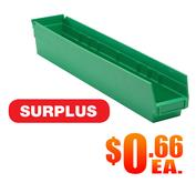 Quantum QSB105 Green Shelf Bins Surplus A