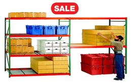 Quick Rack Bulk Storage Rack - 6 ft High Unit - Particle Board Decking