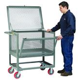 Little Giant Raised Platform Trucks with Drop-Gate and Lid