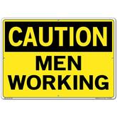 Vestil Sign - Caution Men Working
