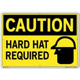Vestil Sign - Caution Hard Hat Required