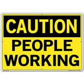 Vestil Sign - Caution People Working