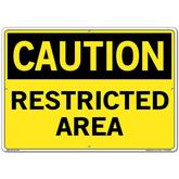 Vestil Sign - Caution Restricted Area