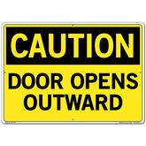 Vestil Sign - Caution Door Opens Outward