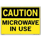 Vestil Sign - Caution Microwave In Use