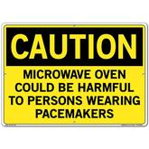 Vestil Sign - Microwave Oven Could Be Harmful to Persons Wearing Pacemakers