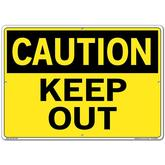 Vestil Sign - Caution Keep Out