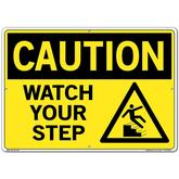 Vestil Sign - Caution Watch Your Step