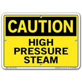 Vestil Caution High Pressure Steam