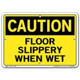 Vestil Caution Floor Slippery When Wet