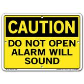 Vestil Caution Do Not Open Alarm Will Sound