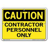 Vestil Caution Contractor Personnel Only