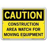 Vestil Caution Construction Area Watch for Moving Equipment