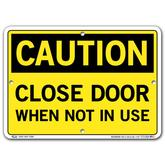 Vestil Caution Close Door When Not In Use
