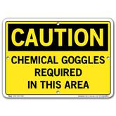 Vestil Caution Chemical Goggles Required