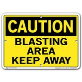 Vestil Caution Blasting Area Keep Away