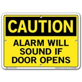 Vestil Caution Alarm Will Sound If Door Opens